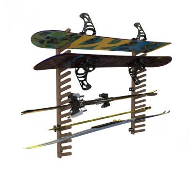 Вешалка для лыж, сноубордов и вейкбордов.